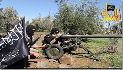 Jabhat al Nusra met M60 antitankwapen komende uit Croatië - 23 maart 2013