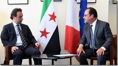 Khaled Koja - Syrische oppositie - Met François Hollande - 2