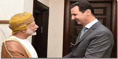 Yusuf bin Alawi bin Abdullah, BZ Oman, met Bashar al Assad - 26-10-205