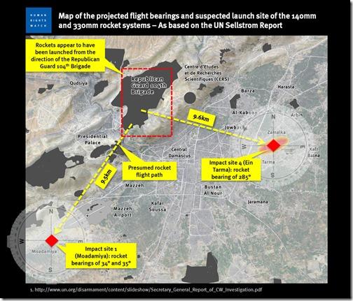 HRW - Tekening die 104 Brigade Republikeinse Wacht als dader aanduid. Rapport september 2013jpg