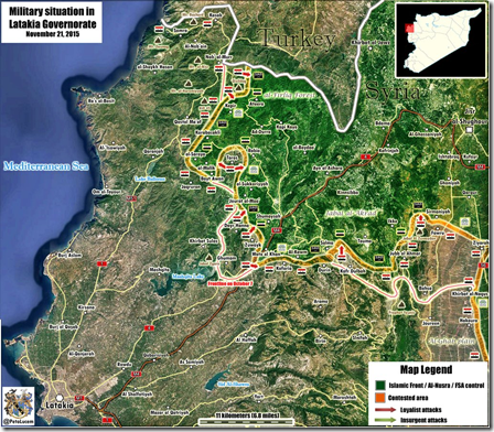 Latakia - Militaire situatie Noord-oosten - 1 - 21-11-2015