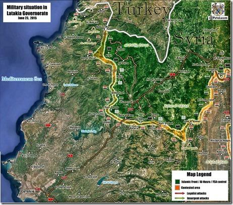 Latakia provincie - Militaire situatie - 1 - 23-06-2015