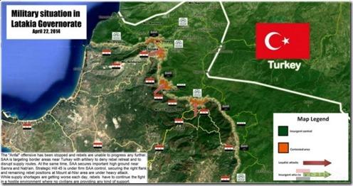 Latakia - Slagveld - 21-04-2014