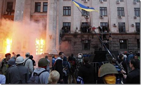 Odessa- Brand in vakbondsgebouw - 2 mei 2014 - 39 doden