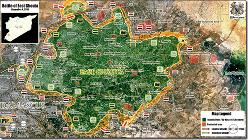 Oost-Ghouta - Militaire situatie - 4 - 4-11-2015
