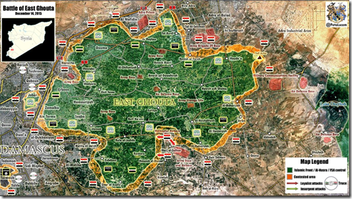 Oost-Ghouta - Militaire situatie - 6 - 14-12-2015