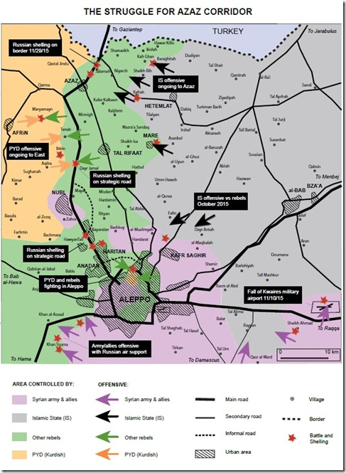 Aleppo-Noord - Militaire situatie - 4 - 12-12-2015