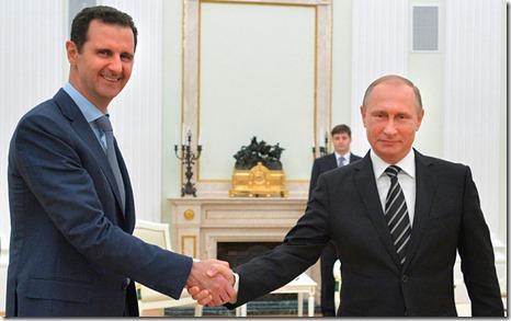 Bashar al Assad en Vladimir Poetin - November 2014