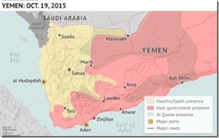 Jemen - Militaire Situatie - 2 - 19 oktober 2015