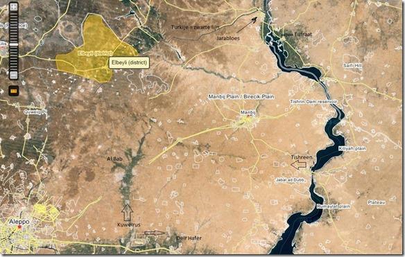 Oost-Aleppo - Militaire Situatie Januari 2016
