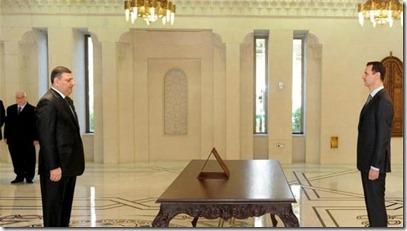 Riad Hijab legt de eed af als eerste-minister bij Bashar al Assad - 1