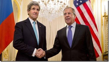 Sergeï Lavrov en John Kerry (2)