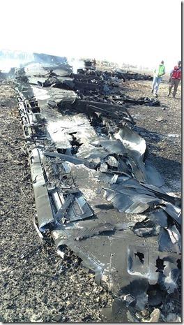 Sinai - Resten neergestort Russisch vliegtuig