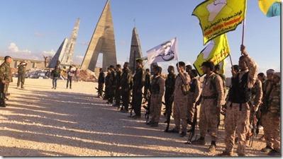 YPG en Syrian  Democratic Forces - Afrin - Noord-Aleppo - Begrafenis - 12-2015