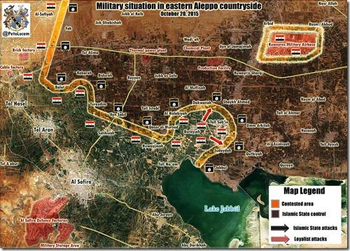 Aleppo - 31 - Oost - Militaire situatie 20 October 2015