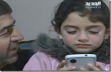 Madaya - foto uitgehongerd meisje met vader