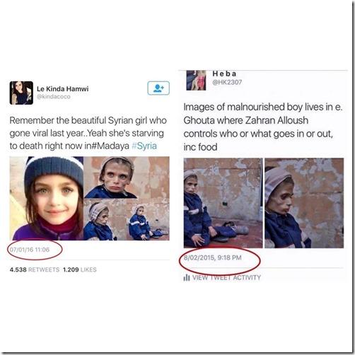 Madaya - foto uitgehongerd meisje