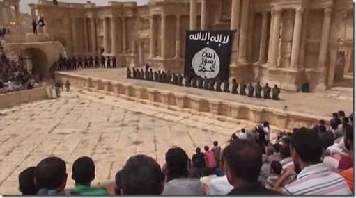 ISIS in Palmyra - Executie Syrische soldaten - - 2015