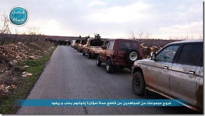 Jabhat al Nusra - Militair konvooi - Februari 2016