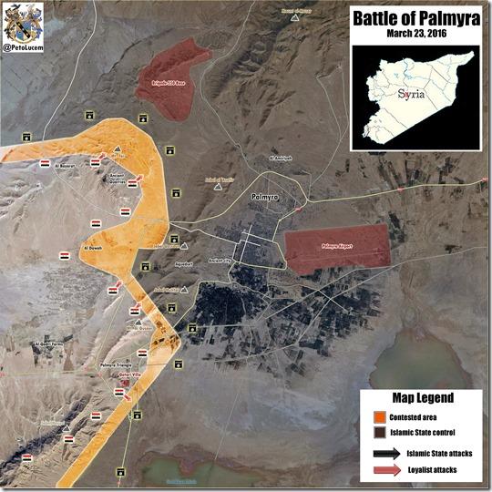 Palmyra-Tadmud - Militaire situatie - 11 - 23 maart 2016