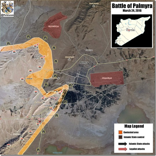 Palmyra-Tadmud - Militaire situatie - 12 - 24 maart 2016