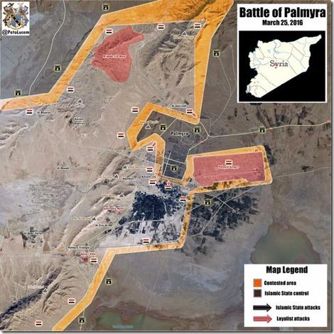 Palmyra-Tadmud - Militaire situatie - 13 - 25 maart 2016 - 1