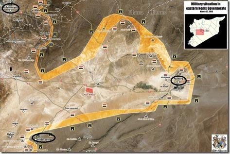 Palmyra-Tadmud - Militaire situatie - 14 - 27 maart 2016