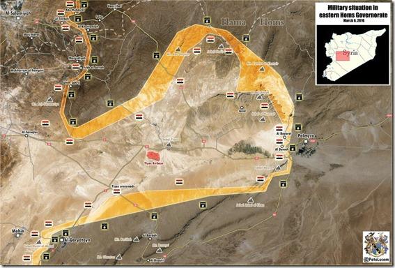 Palmyra-Tadmud - Militaire situatie - 9 - 6 maart 2016
