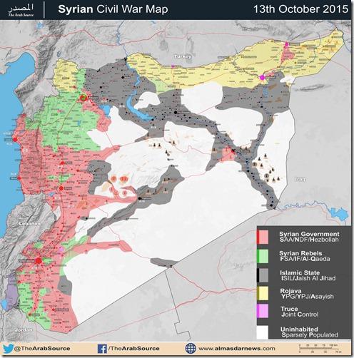Syrië - Militaire situatie - 8 - 13 oktober 2015