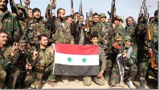 Syrische leger in Palmyra viert feest - 27 maart 2016