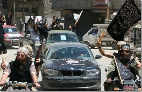 Jabhat al Nusra met gevangenen Divisie 30 - 2 augustus 2015