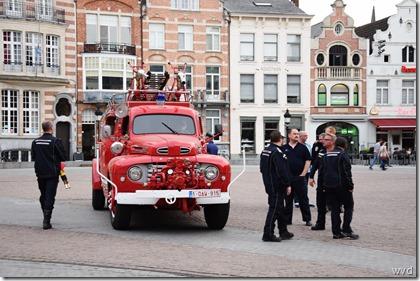 Hamse brandweerwagen, solidariteit Oudegem, Grote Markt Dendermonde