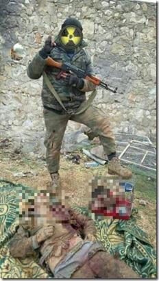 Ahrar al Sham met onthoofde Syrische soldaat in Harbanifsah, Orontes, Hama - 17-01-2016
