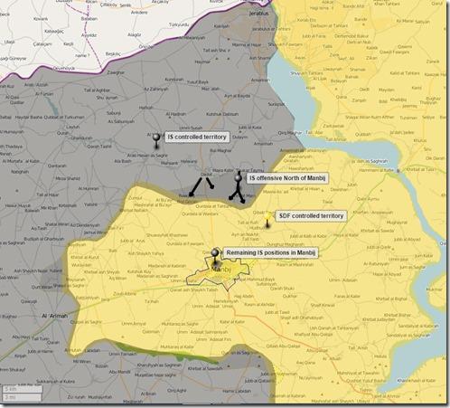 Jarabloes & Manbij - Militaire situatie - 1 - 10 augustus 2016