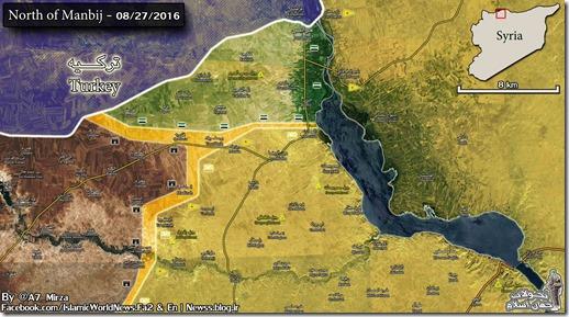 Jarabloes & Manbij - Militaire situatie - 3 - 27 augustus 2016