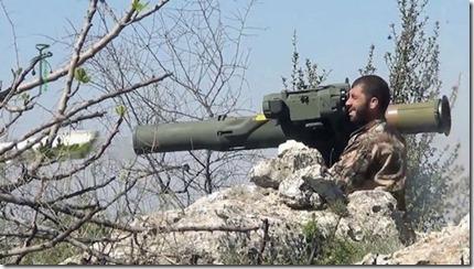 Jihadist met Amerikaanse TOW-antitankraket