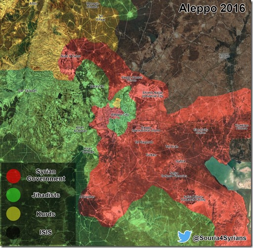 Aleppo - 1 - Militaire situatie  - 27 juli 2016