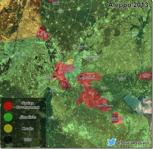 Aleppo - 1 - Militaire situatie  Begin 2013