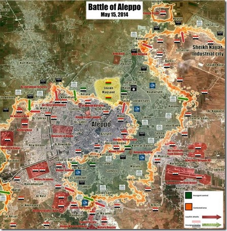 Aleppo - 5 - Militaire situatie 15 mei 2014