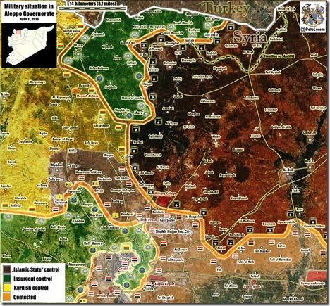 Aleppo - 64 - Militaire situatie - 11 april 2016