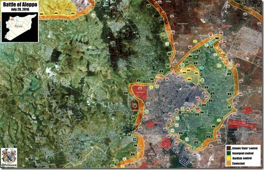 Aleppo - 75 - Noord - Militaire situatie  - 28 juli 2016