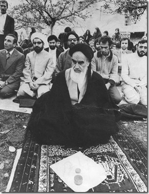 Ayatollah Ruhollah Khomeini in Frankrijk