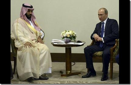 Prins Mohammed bin Salman al Saoed en Vladimir Poetin - August 2015
