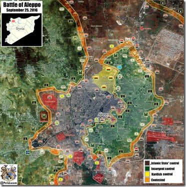 Aleppo - 83 - Aleppo provincie noord - Militaire situatie  - 25 september 2016