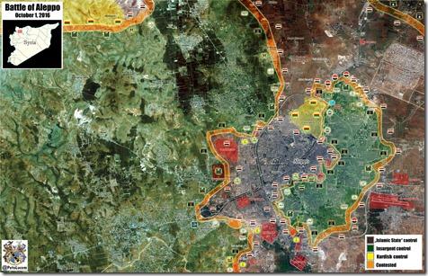 Aleppo - 85 - Aleppo stad - Militaire situatie  - 1 oktober 2016
