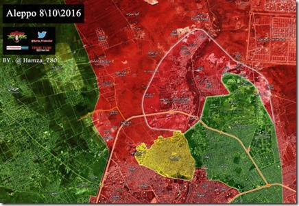 Aleppo - 89 - Aleppo stad - Militaire situatie  - 8 oktober 2016