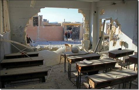 Idlib - Schooltje en bombardement - 26-10-2016