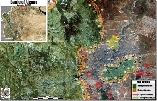 Aleppo - 103 - Militaire situatie  - 30 november 2016