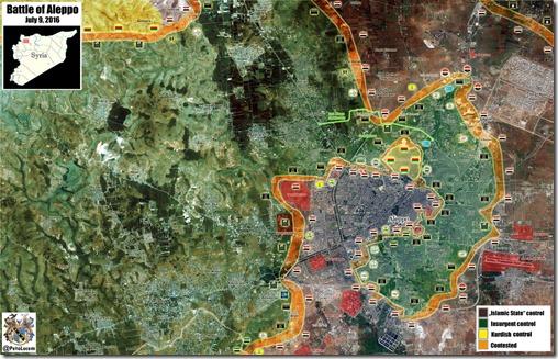 Aleppo - 73 - Noord - Militaire situatie  - 9 juli 2016