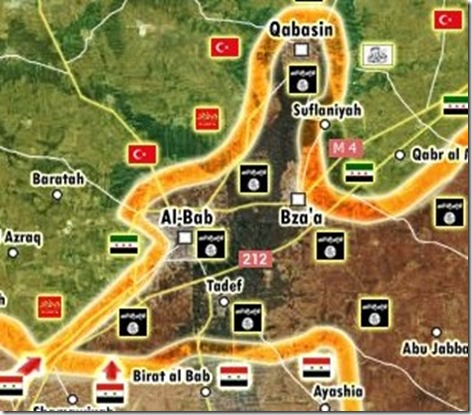 Al Bab - Militaire situatie - 14 - 9 februari 2017